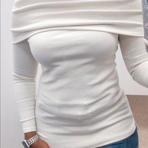 NWT Buffalo Off-Shoulder Long Sleeve Top